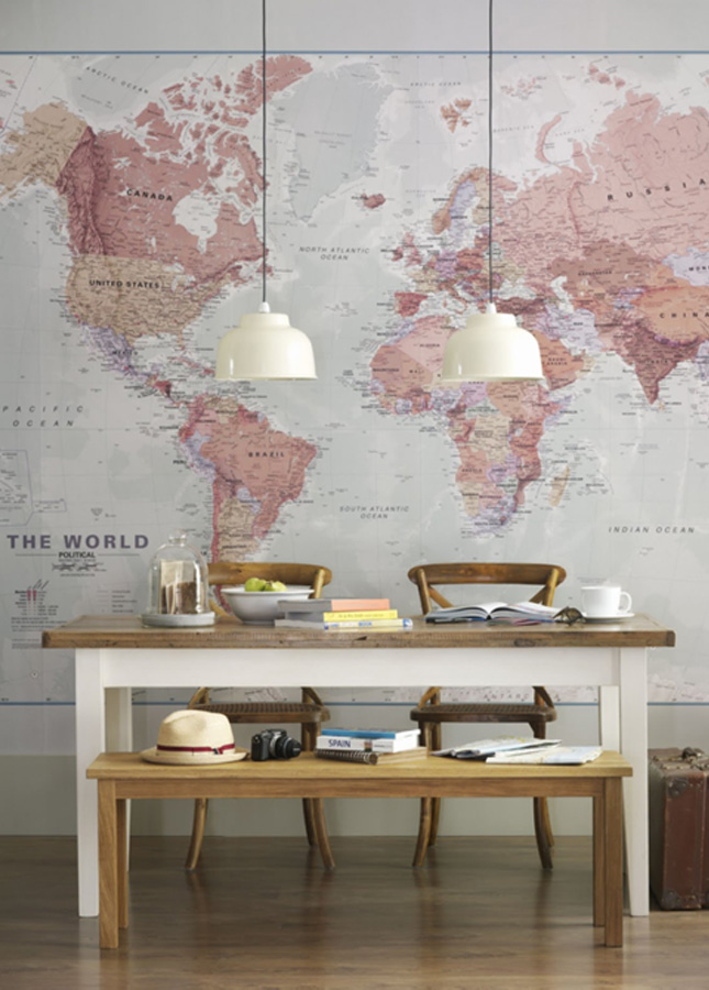Wanderlust Decorating With Maps Happy Interior Blog