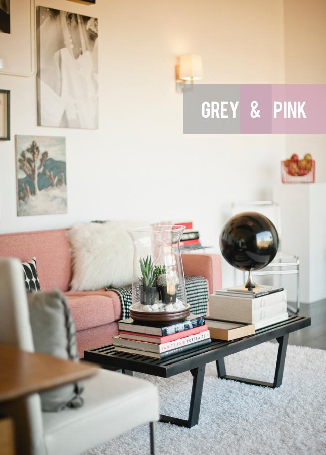 Colour Combination Grey Pink Happy Interior Blog