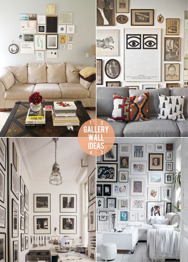 Gallery wall ideas happy interior blog - Wall gallery frame set ideas ...