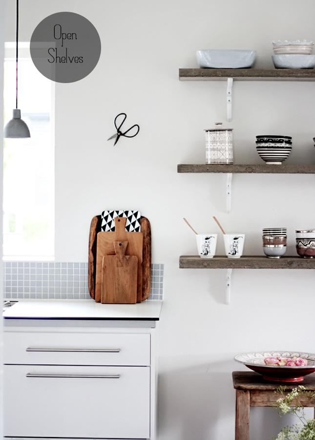 Kitchen Idea Open Shelves Happy Interior Blog