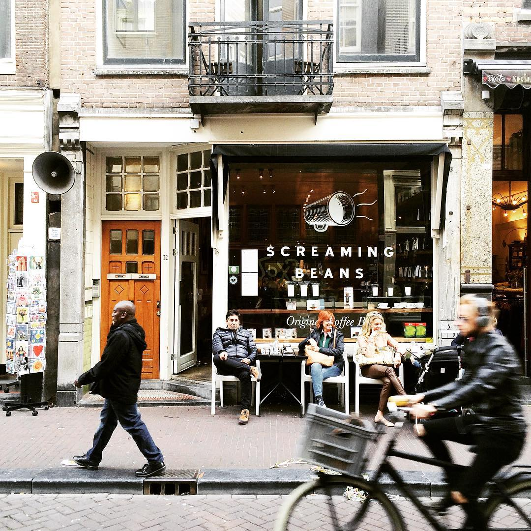 Screaming for coffee in Amsterdam? Go to Screaming Beans screamingbeanshellip