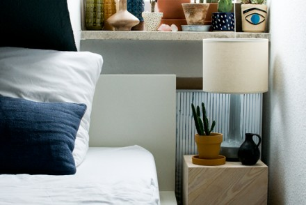 bedroom, interiors, makeover, bedroom styling, bedside table, plants, StyleAtMine