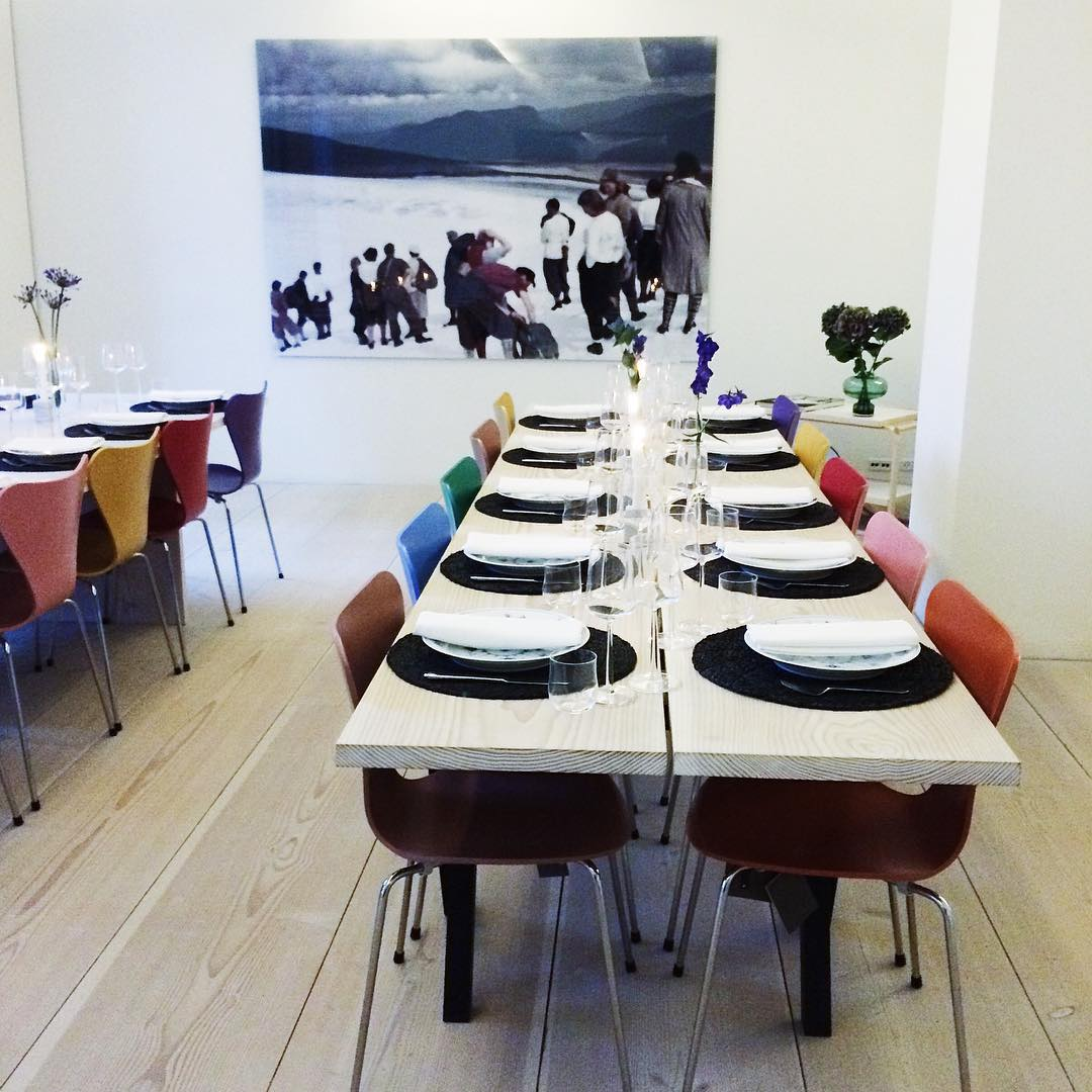 Amazing dinner setup at the DinesenHome in Copenhagen with fabhellip