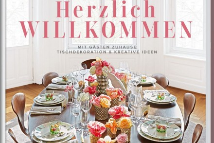 Herzlich Willkommen, new book, table setting, Steffi Luxat