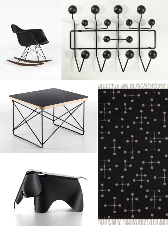Vitra, Black Collection, Eames, Design, Vitra Black Collection, Interior Design
