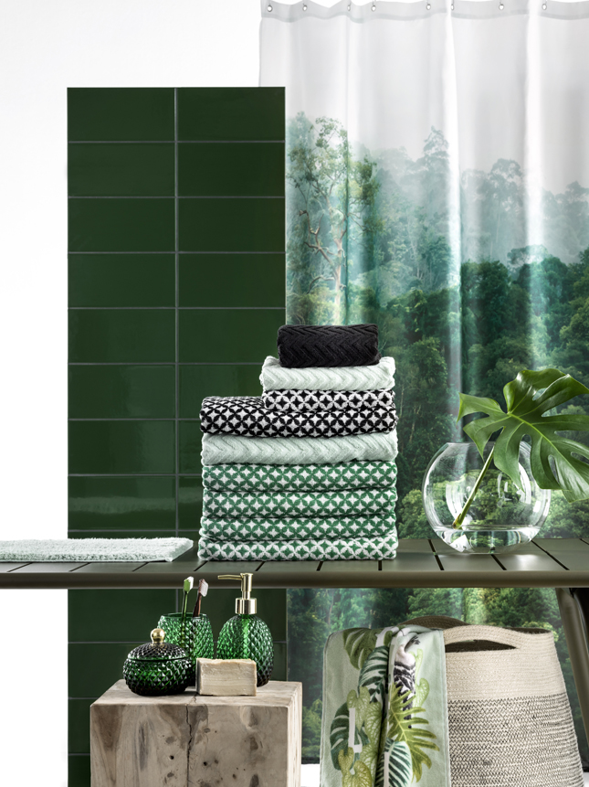H m home goes urban jungle happy interior blog for Spring bathrooms