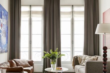 Paris apartments, Paris interiors, Paris homes, interior design, pied-à-terre in Paris