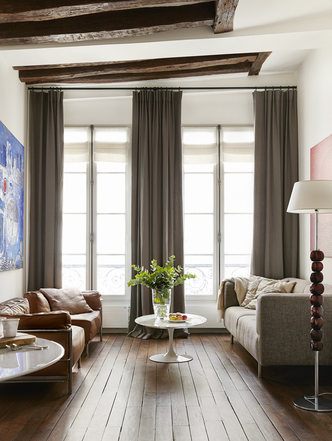 Paris apartments, Paris interiors, Paris homes, interior design, pied-à-terre in Paris