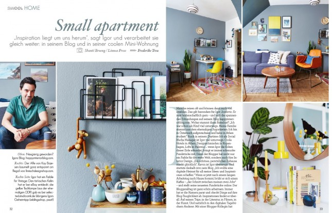 home tour, Happy Interior Blog, Sweet Living Magazin, small apartments, interior styling