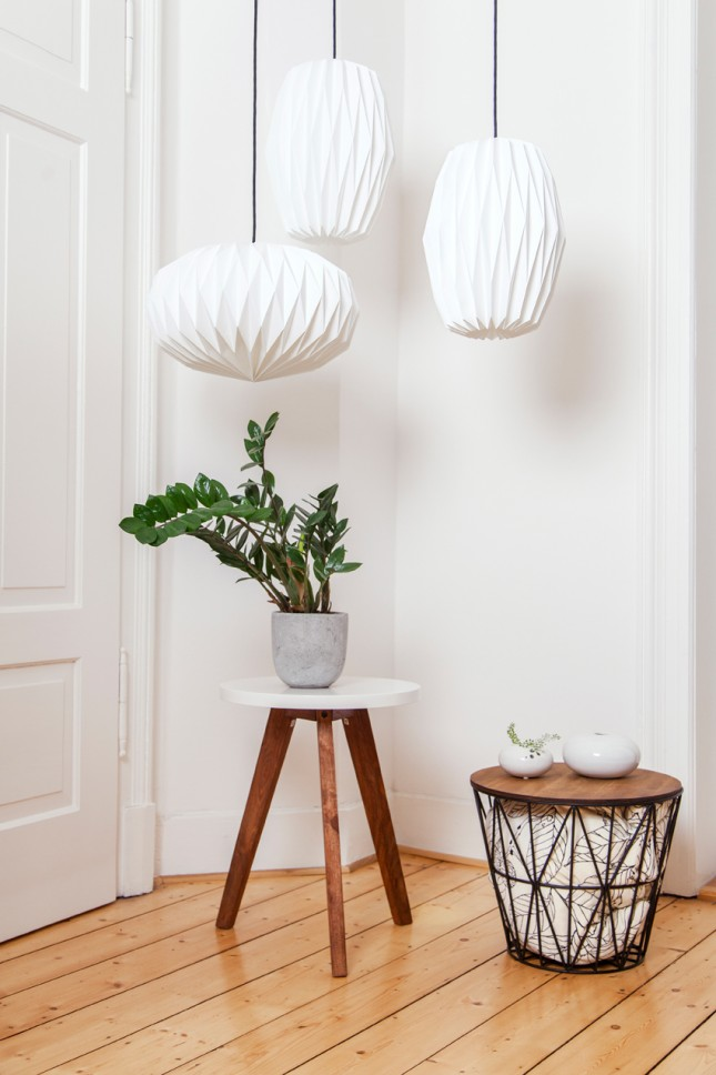 lampshades, folded lampshades, handmade, German design, Nachtfalter, lighting, pendant lights, folded lampshades