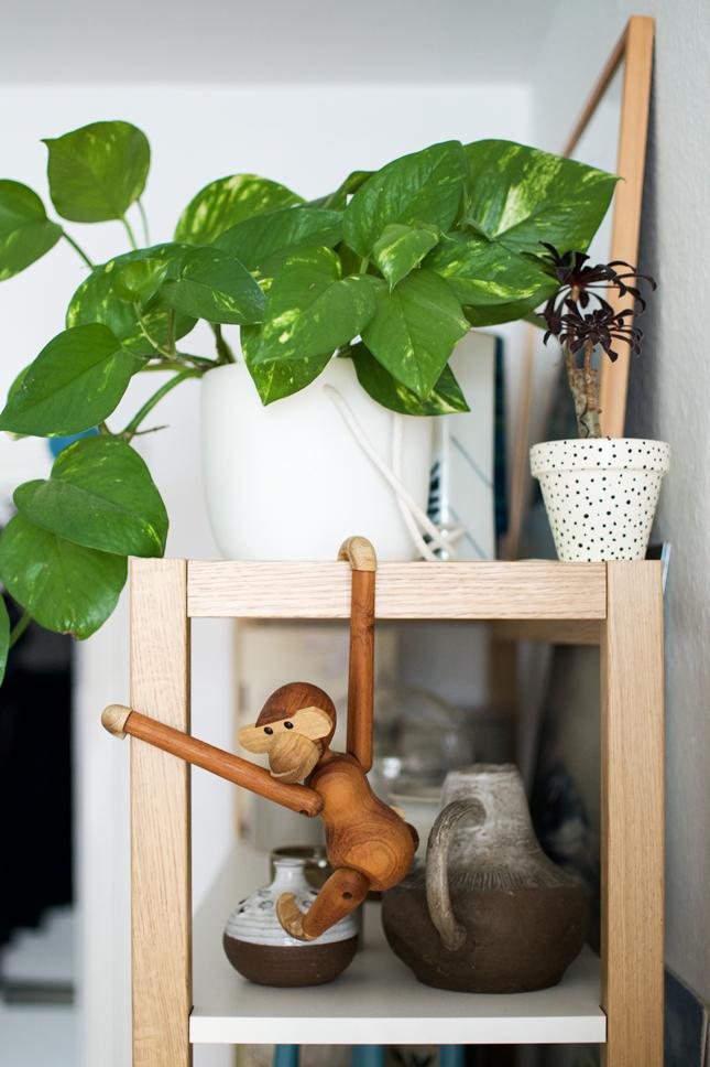 Urban Jungle Bloggers, urbanjunglebloggers, jungle animals, plants, houseplants, indoor plants, Kay Boyesen Monkey