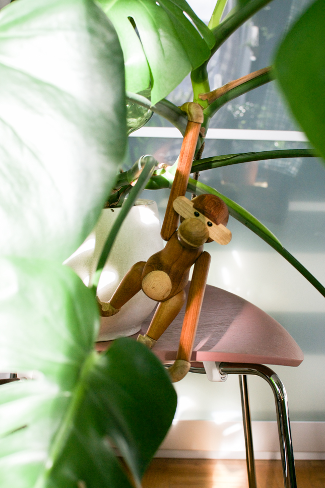 Urban Jungle Bloggers, urbanjunglebloggers, jungle animals, plants, houseplants, indoor plants, Kay Boyesen Monkey