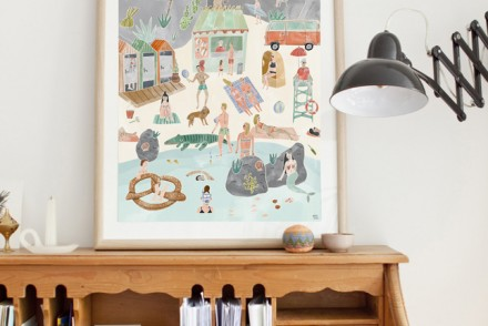 Poster, Illustration, Handmade, Watercolour Poster, Oh My Home, Interior Decor, Home Decor, Interior Styling
