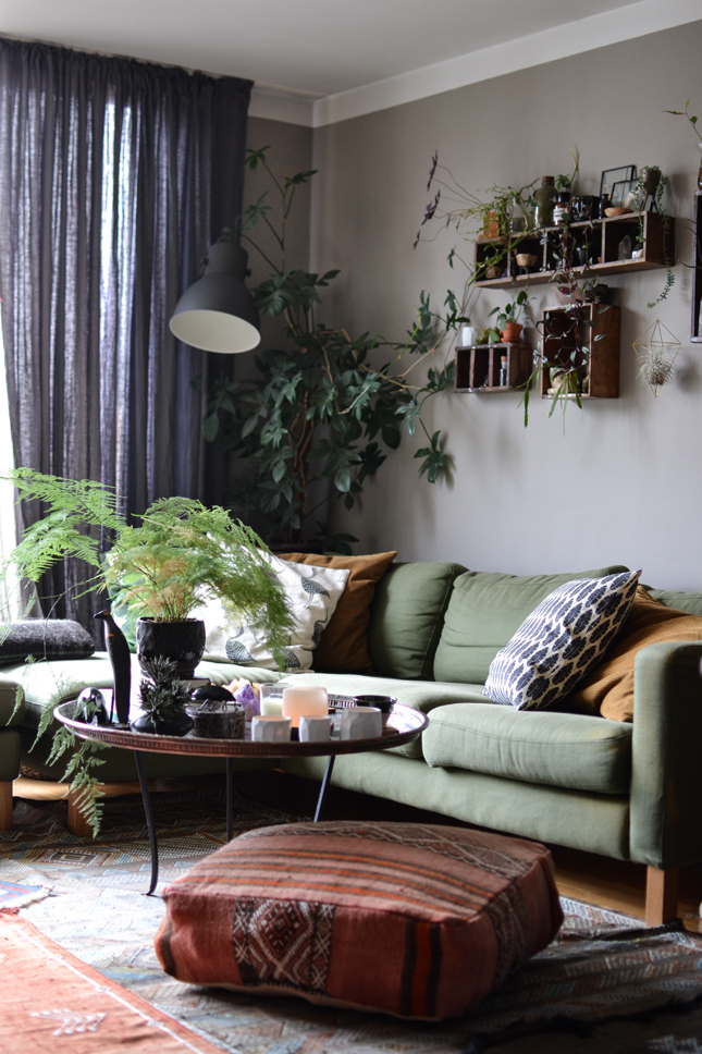 Bemz, IKEA, living room, sofa covers, restyling, interior, interior styling, boho interiors, bohemian, plants