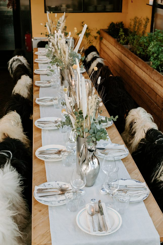 wedding, Copenhagen, table top, table setting, wedding styling, natural styling, Danish design