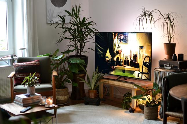 Philips TV, Urban Jungle, Urban Jungle Bloggers, Ambilight, Home Entertainment, Living Room, Plants, Home Decor, TV, Decorate your TV