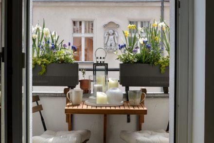 balcony, balcony styling, spring makeover, Amazon, tiny balcony